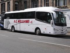 AC Williams of Ancaster YN17OOX Scania K360iB4 Irizar i6 YN17OOX at Castle Terrace, Edinburgh, on 13 August 2019. (Robin Dickson 1) Tags: busesedinburgh irizari6 scaniak360ib4 yn17oox acwilliamsofancaster