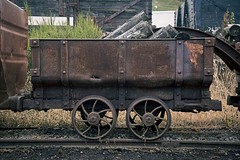 'Wooden Cart' (Taken By Me Photography) Tags: abandoned adventure rail railway train track travel trade trial cart wheel headgear rust rusty nikon neglect news takenbyme takenbymephotography wwwtakenbymephotographycouk d750 pit coal mine open sidings mining wales national heritage big