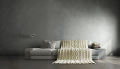 3d interior of big gray room (reseneconstruction) Tags: beige big blind concrete contemporary couch design empty expensive floor floorlamp flooring gray high home house huge interior interiordesign lamp light living luxury middle modern office panorama pillows plaster plastering plinth room soft space stucco view wall white window windowsill knit knitted blanket cover craft handmade decor natural wool yarn ukraine
