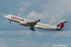 [CDG] Qatar Airways Airbus A330-200 _ A7-ACK (thibou1) Tags: thierrybourgain cdg lfpg spotting aircraft airplane nikon d810 tamron sigma qatarairways aircanada montreal airbus airbusa330 a330 a330200 a7ack takeoff