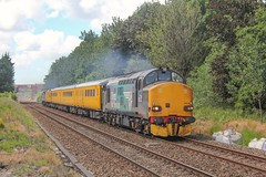 37218 passes Bamber Bridge with 1Q18 1413 Blackpool North - Derby RTC, 21/06/19. (chrisrowe37419) Tags:
