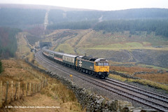 c.1986 - Blea Moor tunnel, North Yorkshire. (53A Models) Tags: britishrail brush type4 class47 47456 diesel passenger bleamoortunnel northyorkshire settlecarlislerailway train railway locomotive railroad