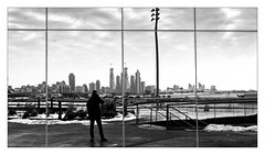 Man in black mirror (Jean-Louis DUMAS) Tags: city cityscape architecture architect architecte architectural architecturale bâtiment building reflecting chicago sony art batiment twop noretblanc tower award monochrome noir blanc black white bn bnw nb ngc noiretblanc bw maniac noireblanc illinois noire panoramic panoramique miroir reflet refection mirror people photoadd blackandwhite blackwhite blackwhitephotos man selfportrait autoportrait