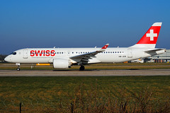 Swiss A220-300 (Infinity & Beyond Photography: Kev Cook) Tags: swiss airlines airways airbus a220 a220300 bombardier cseries cs300 boeing 7x7 aircraft airplane airliner ringway airport manchester man egcc planespotting photos planes hbjcb