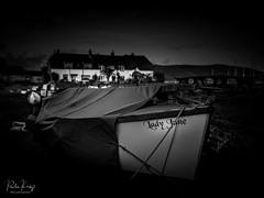 Lady June (PKpics1) Tags: boatblackandwhite blackwhite porlock somerset harbour weir england nikon landscape