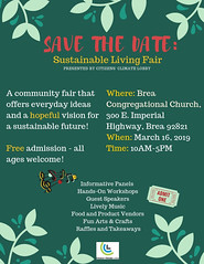Brea Sustainable Living Fair - flier