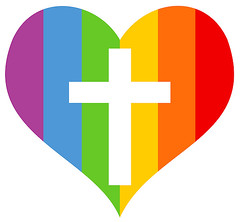 rainbow heart cross