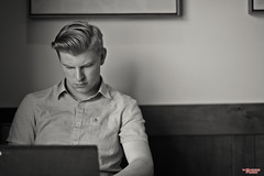 Study Hall (MBates Foto) Tags: availablelight blackandwhite bokeh carlzeiss daylight existinglight face indoors male man monochrome nikon nikond810 nikonfx people portrait urban zeiss spokane washington unitedstates
