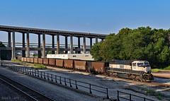 Northbound Empty Coal Train in Kansas City, MO (Grant Goertzen) Tags: bnsf railway railroad locomotive train trains north northbound empty coal bn kansas city missouri