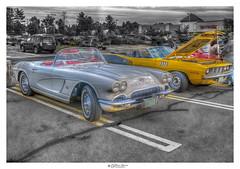 Antique Corvette and Cuda (Pearce Levrais Photography) Tags: car auto show automobile antique classic sony a7r3 hdr corvette barracuda cuda sport sportscar hotrod race racing