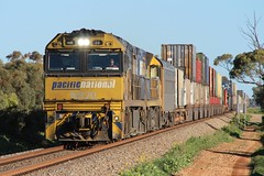 3MP5 Mallala 14/08/2019 (Dom Quartuccio) Tags: 3mp5 pn pacific national pacnat pnt train trains rail railway railroad transport transportation double stacked intermodal sa south australia adelaide mallala