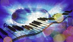 Playing the Blues (soniaadammurray - On & Off) Tags: digitalart art myart abstractart visualart experimentalart contemporaryart music jazz bokeh hbw bokehwednesdays artchallenge
