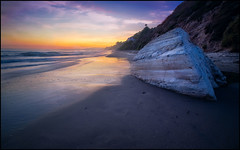 Beach Sunset (PrevailingConditions) Tags: santabarbara beach sunset rocks surf ocean waves water landscape color colorful cliffs ca california southerncalifornia