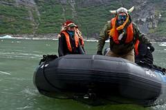 """Norwegians"" Bringing Hot Chocolate (Ginger H Robinson) Tags: tracyarmfjord fjord southsawyerglacier iceberg zodiacmilpro boat insidepassage southeastalaska alaska tidal water rockwall rock"