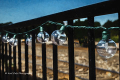 A String of Lights (Kool Cats Photography over 12 Million Views) Tags: luminar topaz abstract abstractart artistic art canon canon6d canon24105mmf4lislens closeup photographicart photography lights fence