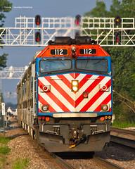 Cover Shot (tim_1522) Tags: railroad railfanning rail illinois il burlingtonnorthernsantafe bnsf burlingtonnorthern bn racetrack chicago sub subdivision emd metra passenger commuter f40phm2 f40ph3 signalbridge
