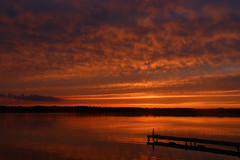 scugog sunset (scienceduck) Tags: on ontario canada lake water sky sun sunset clounds dock scienceduck august 2019 wideangle scugog scugoglake lakescugog