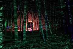 lasers and sparks (scienceduck) Tags: scienceduck 5c4rt 2019 august wideangle night lightpainting on ontario canada albionhills albionhillsconservationarea camping steelwool fire laser laserpointer forest trees woods sparks