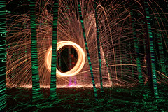 steel wool (scienceduck) Tags: scienceduck 5c4rt 2019 august wideangle night lightpainting on ontario canada albionhills albionhillsconservationarea camping steelwool fire laser laserpointer forest trees woods sparks