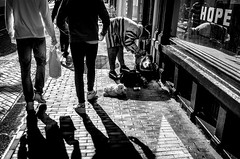 possessions (Gerrit-Jan Visser) Tags: ah amsterdam animal belongings blackandwhite bnw dog possessions streetphotography stuffed