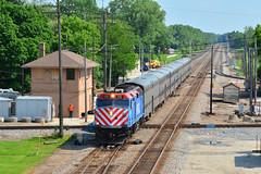 Metra #115 & Rondout Tower (Jim Strain) Tags: jmstrain train railroad railway metra commuter transit chicago rondout illinois