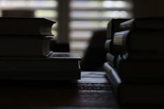 :: enchanted realms :: ({nestled.in.quietude}) Tags: evening light shadow stilllife books quietude stillness reverie table