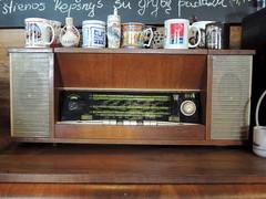 Soviet-era short-wave radio (Anita363) Tags: magdė kavinėmagdė restaurant cafe verėduva lithuania radio multiband shortwave ural урал sarapoul sarapul sarapoulorjonikidzeradioworks vintage collectible soviet