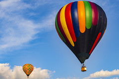 Up (LRW3) Tags: hotairballoon nikond750 nikon balloon colors sky sunnyday hot air maryland festival