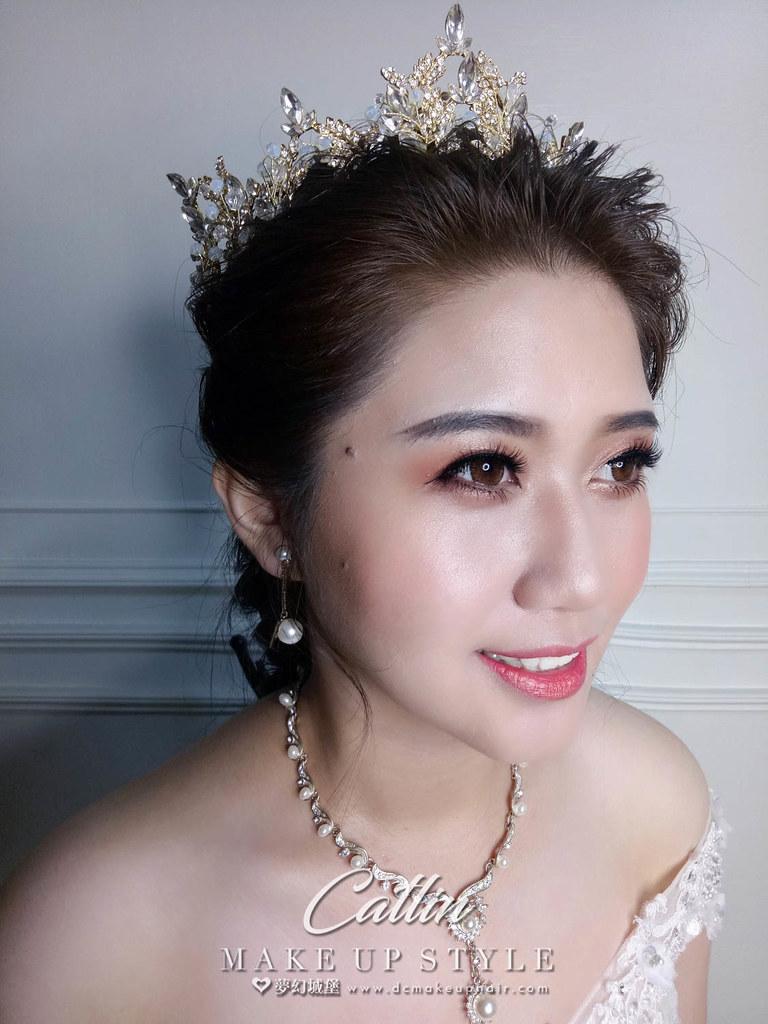 【新秘Catlin】新娘造型創作 /  優雅公主造型