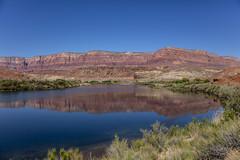 Colorado Reflecting (CraDorPhoto) Tags: canon5dsr landscape water river colorado mountains sky blue reflections calm nature outside outdoors usa arizona