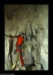 Chris après une escalade découvre les Concrétions de la grotte de Norvaux - Cléron (francky25) Tags: chris après une escalade découvre les concrétions de la grotte norvaux cléron franchecomté doubs karst