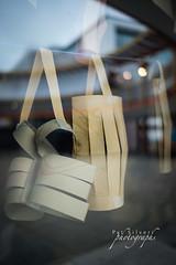 Paper Baskets in Window (pat silveri) Tags: paperbaskets paper baskets papercraft artsandcrafts art arts craft crafts reflections yerbabuenagardens yerbabuenachildrensgarden patsilveri copyright2019patsilveri