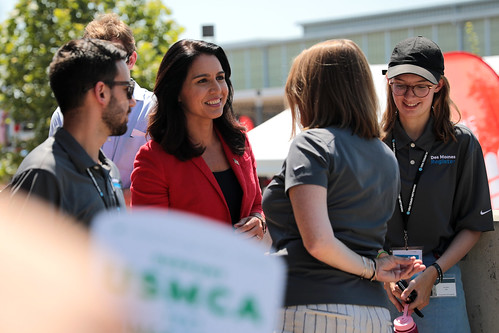 Tulsi Gabbard with media by Gage Skidmore, on Flickr