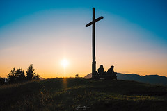 Pärchen zum Sonnenuntergang (F!o) Tags: fuji sunset sunrise sonnenuntergang parship pärchen zusammen berg gipfel summit alpen alps tölz badtölz tölzerland light licht stimmung landschaft