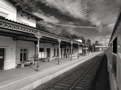 Return to home (wojciechpolewski) Tags: station railwaystation blanconegro blackwhite vacation journey blackandwhite photo photos