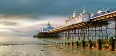 Eastbourne pier (Rob McC) Tags: longexposure le landscape seascape pier eastbourne groyne sussex light golden hour dawn coast beach building architecture structure shoreline