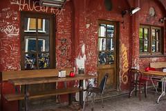 Bistro in Amsterdam (JLM62380) Tags: europe amsterdam netherlands paysbas café pub bistro graffiti drink cafe