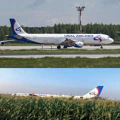 VQ-BOZ 15 Aug 2019 at ZIA flight U6178 to Simferopol made emergency landing in field after bird strike shortly after take-off. 226 people were on Board. 23 people were injured. (Nathan_Ivanov) Tags: uralairlines emergencylanding zhukovsky zia vqboz