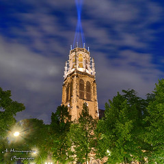 Light tower (hespasoft) Tags: düsseldorf kirche church tower turm illuminated nrw rheinland architektur architecture