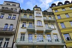 Karlovy Vary (galterrashulc) Tags: czech republic karlovy vary irina galitskaya galterrashulc hotel house urban town city windows gold