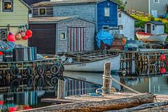 Knotty & Nice...East Coast Fishing (SpyderMarley) Tags: boats fishingvillage landscape nautical seascape ropes buoys wharf knots traps fishingtraps lobstertraps crabtraps reflections