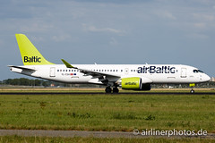 YL-CSA (Airlinerphotos.de) Tags: a220300 ams airbaltic cs300