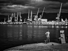 Hafen von Batumi, harbour of Batumi, Republic of Georgia (fritz polesny) Tags: georgia georgien panasonicg81 batumi hafen harbour blackwhite