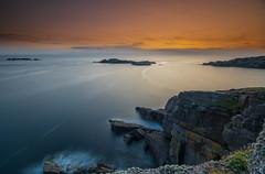 A Minch Sunset .. (Gordie Broon.) Tags: sheigra theminch scotland coastline islands longexposure droman scottishhighlands schottland paysagemarin zeegezicht kinlochbervie scenery sunset lecoucherdusoleil atardecer seascape sonnenuntergang cliffs durness scottishwesternhighlands caledonia le gordiebroonphotography summer 2019 tramonto polin ocean northatlanticocean seelandschaft sonya7rmkii sonyzeiss1635f4lens giottos northwestsutherland scenic alba aghaidhealtachd geotagged balchrick blairmore