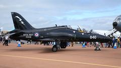 XX256 / 846 / CU B.Ae.-H.S.1182 Hawk T.1A msn:312092  Royal Navy (DC-7C) Tags: aircraft aeroplane plane airplane military jet trainer xx256 256 cu bae british aerospace hs1182 hawk t1a 92 312092 royal navy 736 736sqn squadron rn riat 2019 shawbury egva gloucestershire