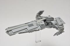 Sith Infiltrator (Pierre MiniBricks) Tags: pierre minibricks lego star wars mini moc dark maul sith infiltrator phantom menace scimitar trade federation