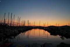 Alghero's harbor at sunset (_Elles_) Tags: sardinia italy alghero holiday summer water sea ocean sun sunset