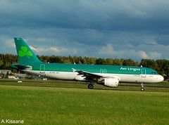 AER LINGUS A320 EI-FNJ (Adrian.Kissane) Tags: aviation irish ireland departing grass sky outdoors airliner airline jet plane aircraft airbus aeroplane 3174 2072019 a320 eifnj shannonairport shannon aerlingus