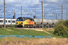 70802 (aledy66) Tags: 613p 2120 oxwellmains lafarge colas west thurrock sidings fhh mml midland main line ef70300mm diesel freight train engine loco locomotive canon eos 6d 6d2 markii mk2 mkii railway railroad track rail bridge 70802 ef 70300mm f456l is usm