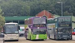 M30 FXO, PJ53 OLA & AU53 HKE, Ipswich Railway Station, 15th. August 2019. (Crewcastrian) Tags: ipswich transport buses felixstowetravel ipswichbuses first easterncounties railwaystation vdl berkhof daf eastlancs lowlander volvo transbus m30fxo pj53ola 58 au53hke 32487